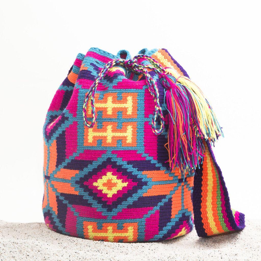 Guajira Mochila Bag – WAYUU TRIBE | Handmade Bohemian Bags ...