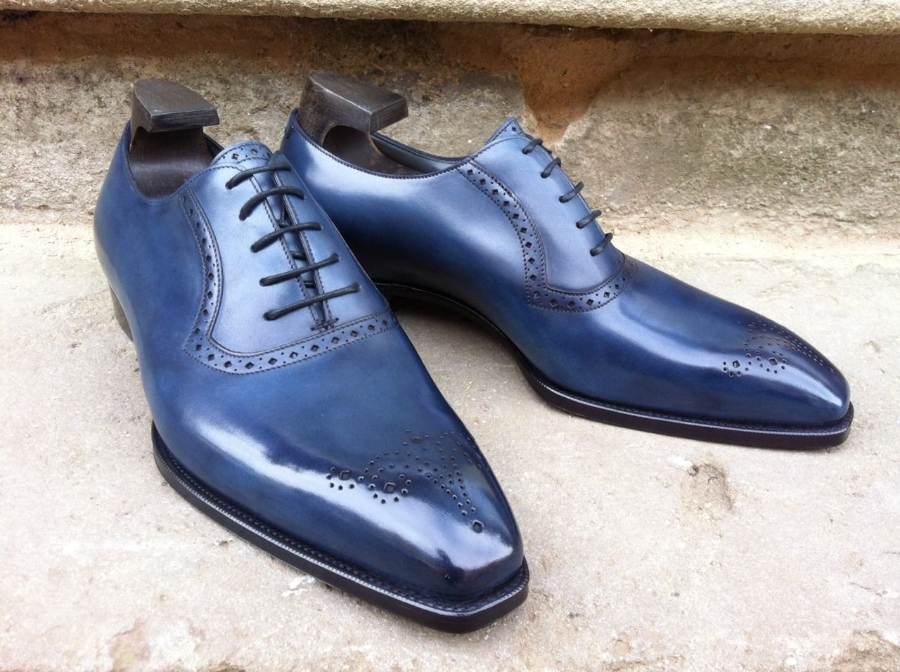 Bespoke-England — Hayes in Midnight Blue Calf on the Deco Last