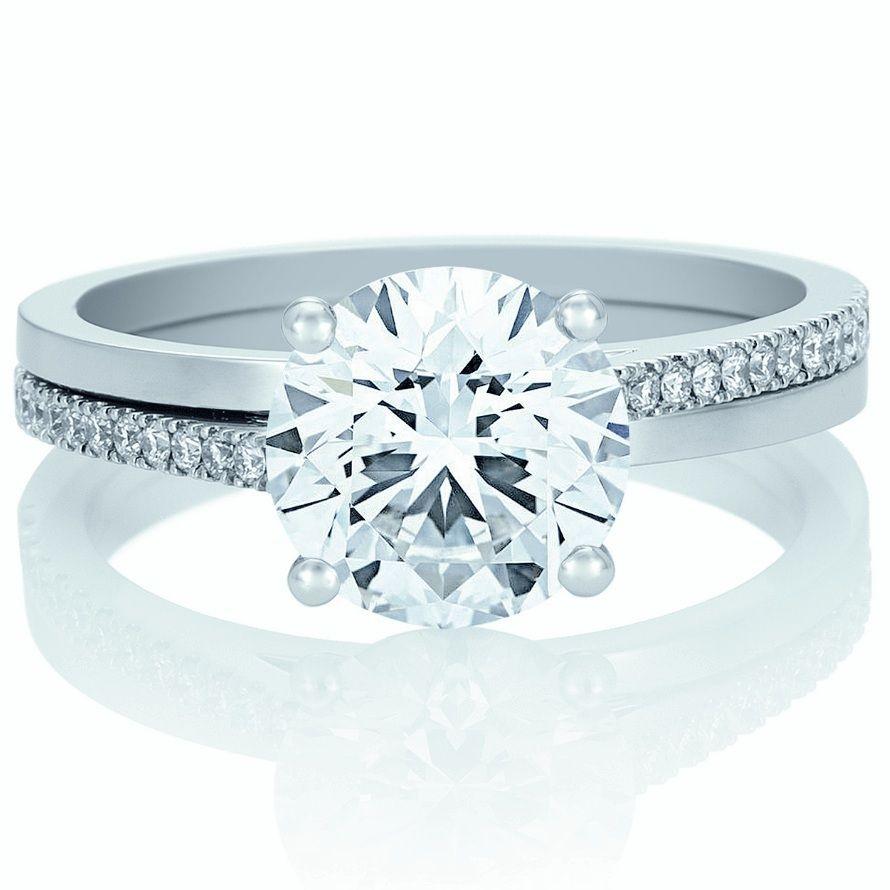 platinum f/vs 0.90ct round diamond engagement ring   nice and pretty ...