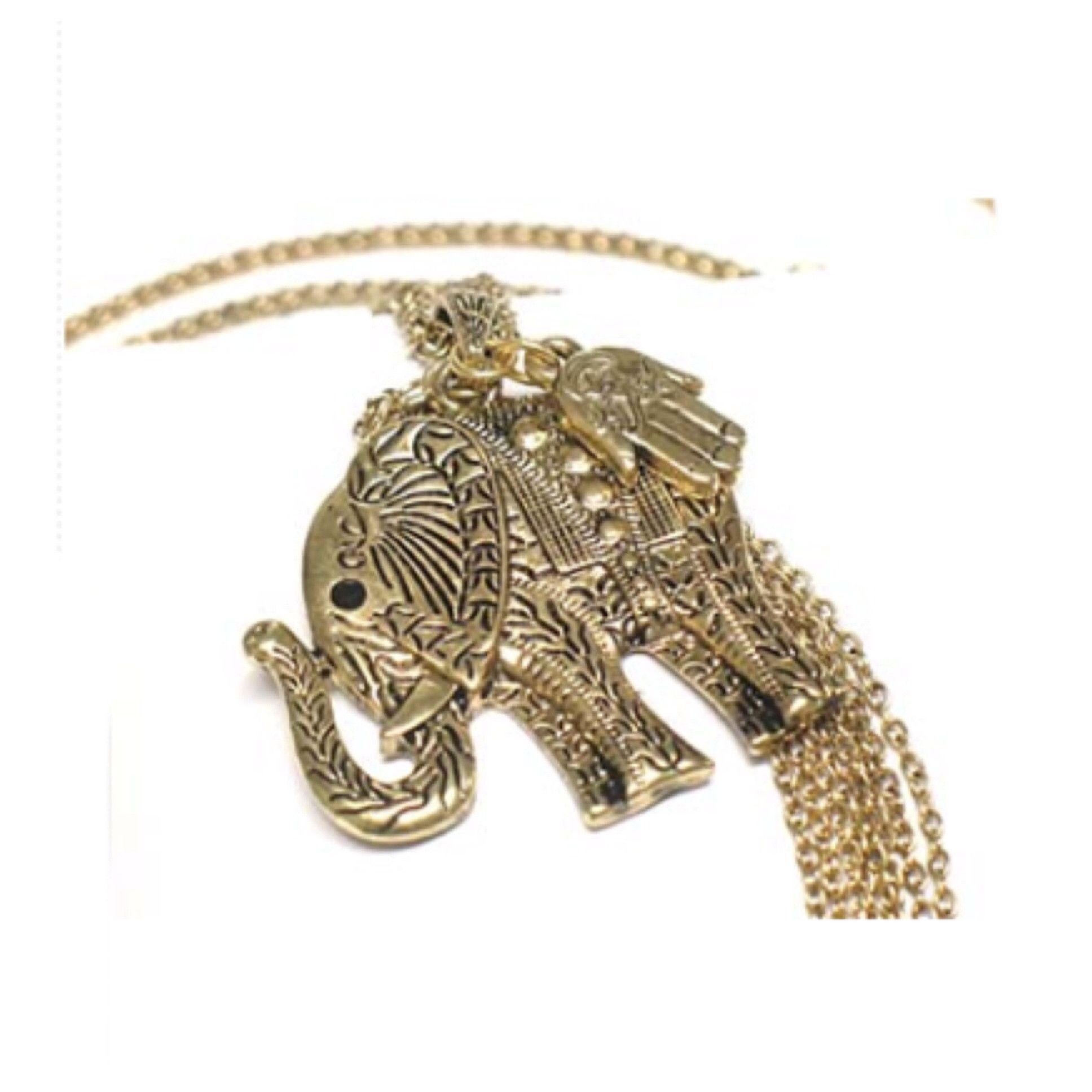 Adorable Elephant Pendant Long Sweater Necklace - Cheryl's Galore and More