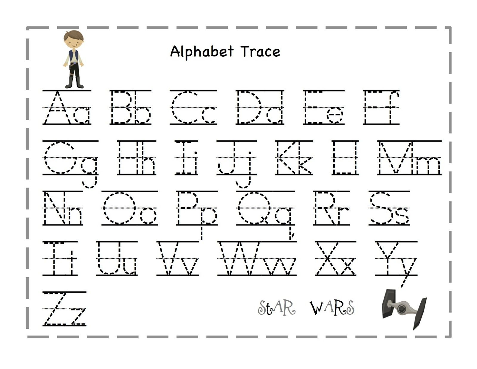 Free Printable Alphabet Letter Tracing Worksheets – Alphabet Trace Worksheet