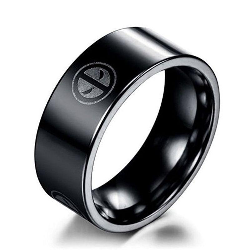 Deadpool 316 Stainless Steel Ring Totally Superhero Yellow Gold Engagement Rings Vintage White Gold Diamond Wedding Rings Antique Diamond Rings