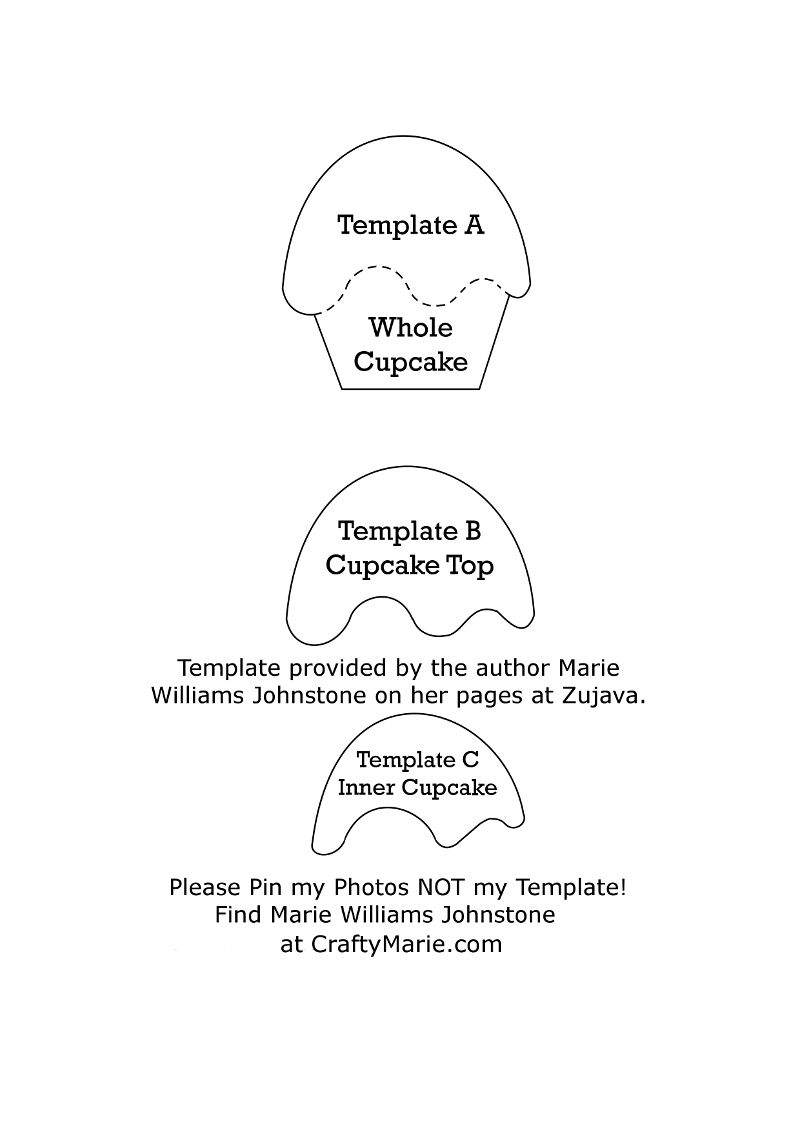 Your Free Felt Cupcake Template