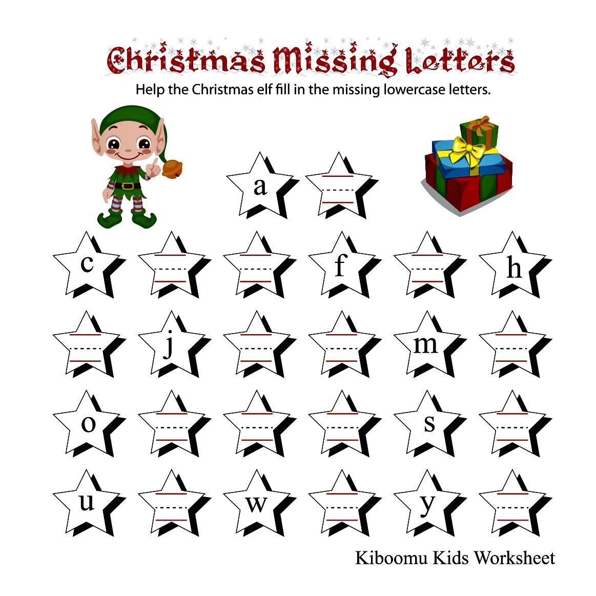 Elf Christmas Alphabet Abc