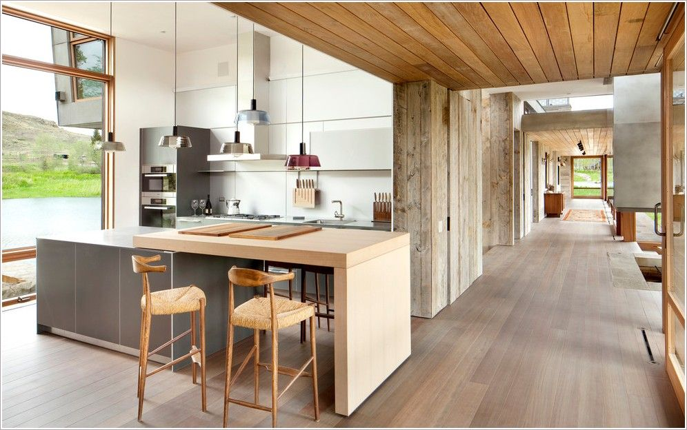 Rustic Kitchen Islands With Seating Kitchen Contemporary Miami Hallway High Ceiling Island Lighting Island Interer