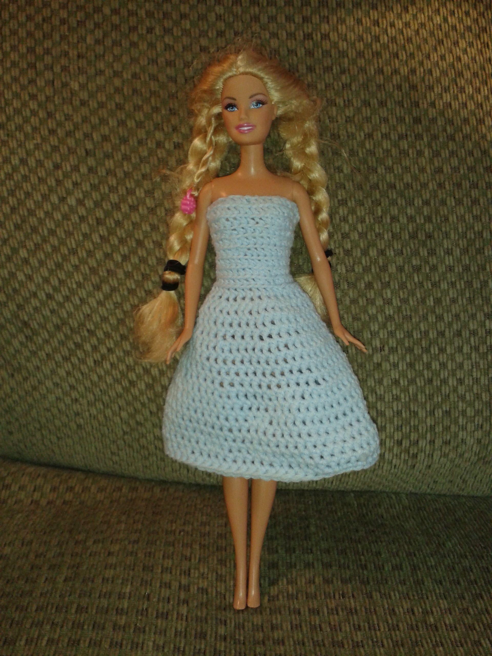 Crochet Barbie dress free pattern – sundress | Crochet dress ...