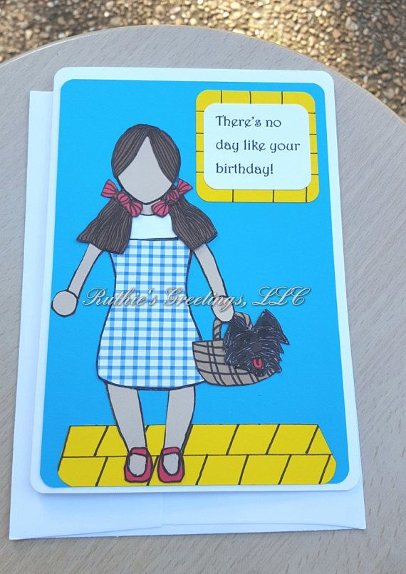 Wizard Of Oz Party Dorothy Birthday Greeting Card Ruthies