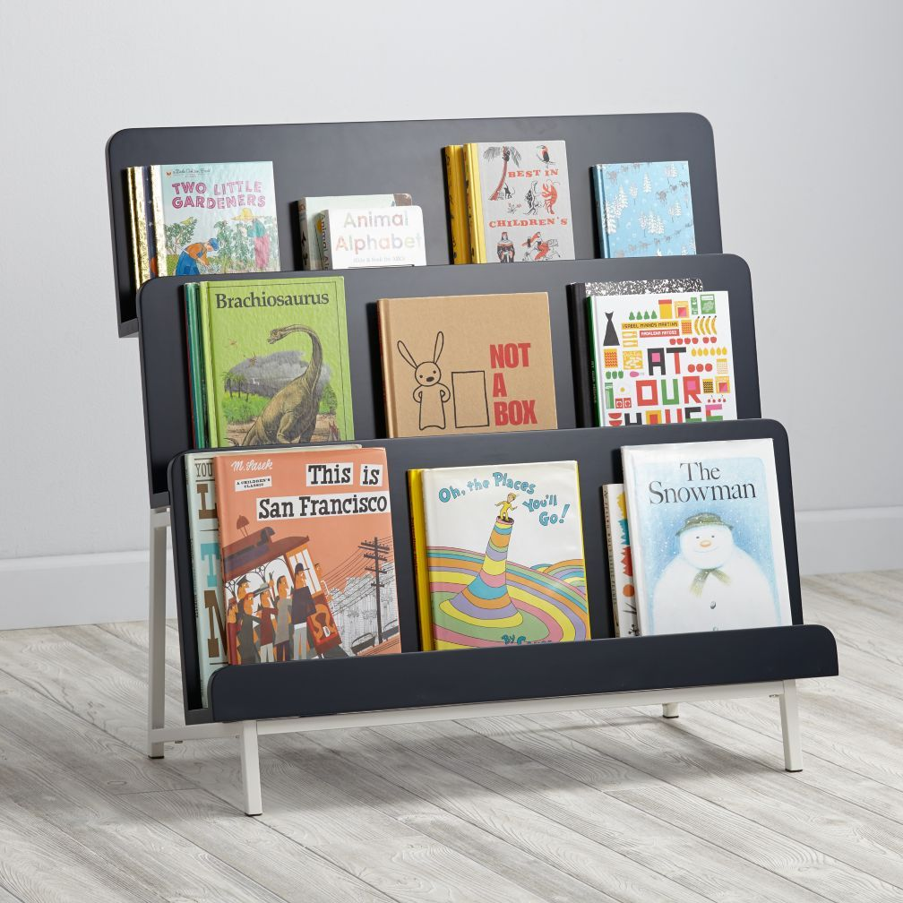 New Issue Bookcase Midnight Blue White Base The Land Of Nod