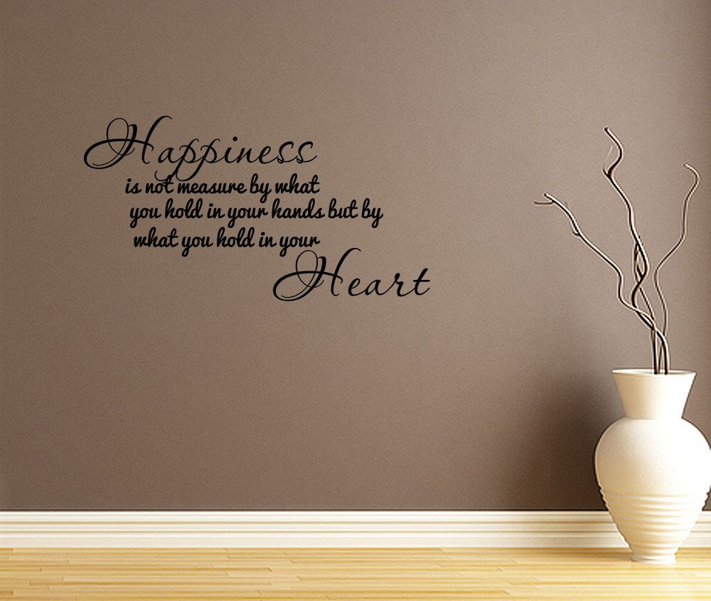 Happiness Is Not Home Living Room Vinyl Wall Decal Quotes Home Wall Sticker  Decor (V31