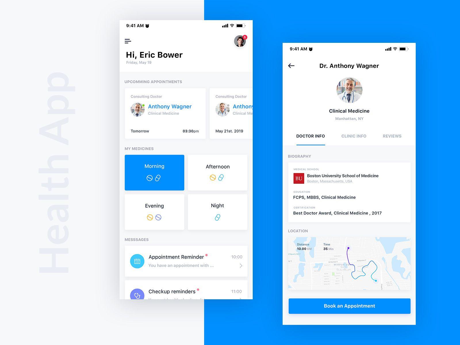 Health Care App Health app design, Health care, App