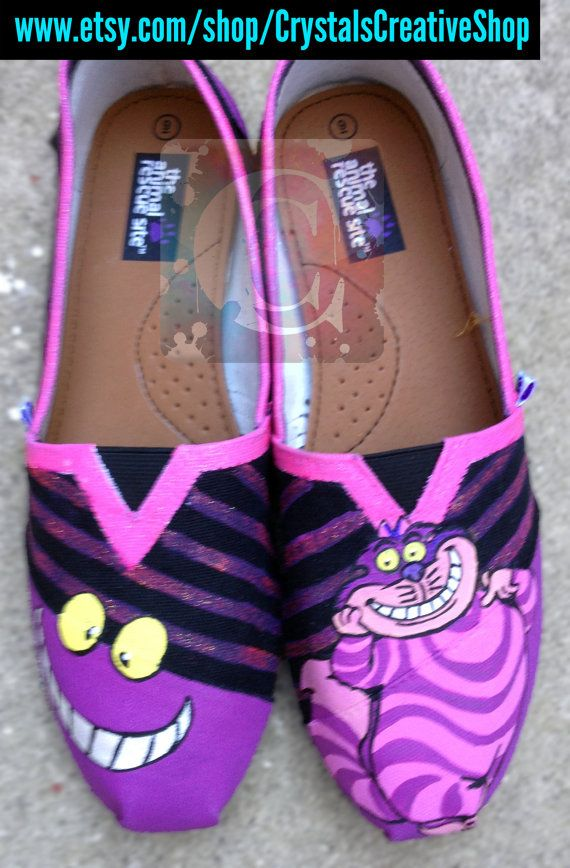 Hey, I found this really awesome Etsy listing at https://www.etsy.com/listing/168318607/alice-in-wonderland-cheshire-cat-shoes