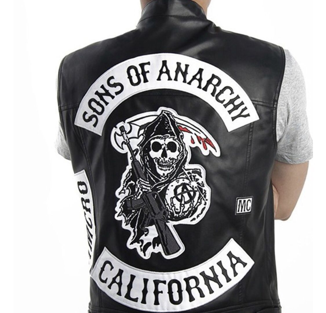 Freeshipping Sons Of Anarchy Vest Ozgadgetshop Sons Of Anarchy Vest Sons Of Anarchy Costume Sons Of Anarchy