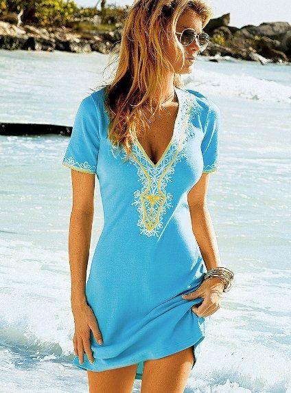 Victoria S Secret Beach Dress Sukienka Na Plaze 5322957033 Oficjalne Archiwum Allegro Beach Dresses Style Fashion