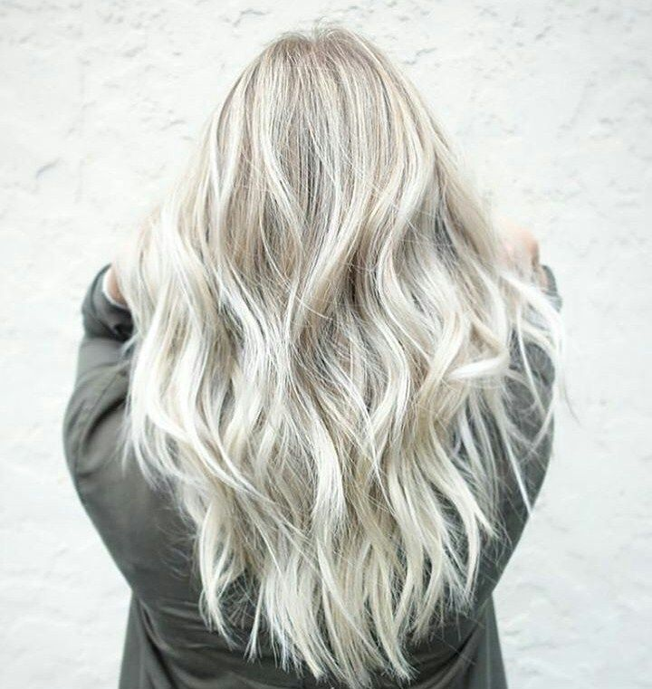 Luxury Hair Color White Blonde