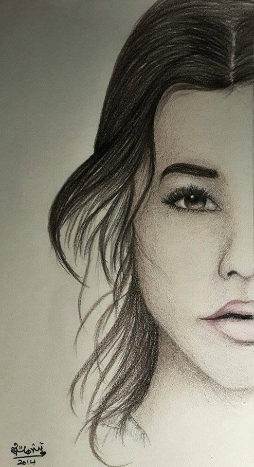 رسم مونيكا عبد المسيح Male Sketch Female Sketch Art