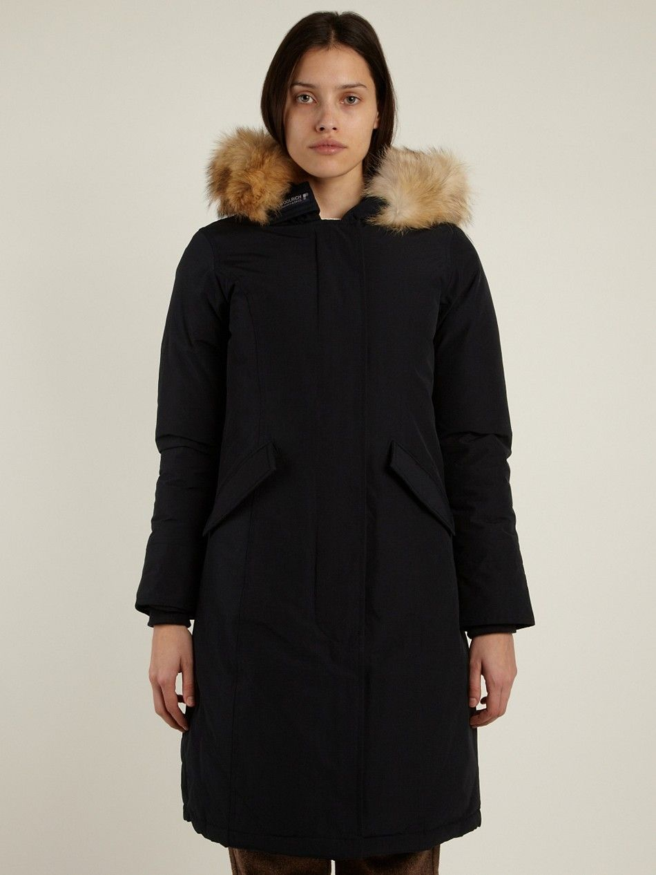 Woolrich Women S Long Arctic Parka In Navy Blue Woolrich Outdoor Outfit Fashion Clothing Company
