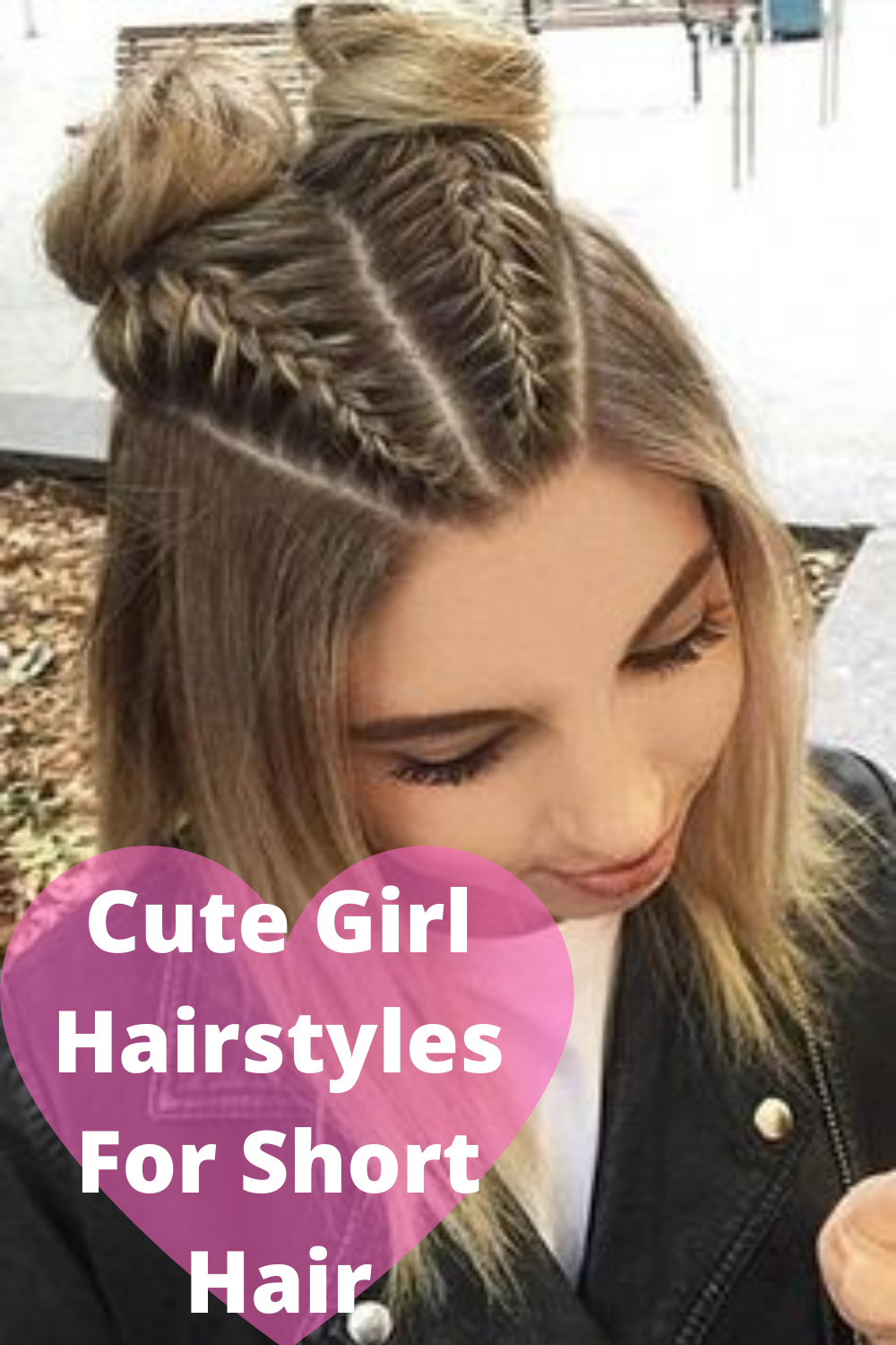 Cute Girl Hairstyles For Short Hair In 2020 Braids For Short Hair Braided Hairstyles Hair Styles