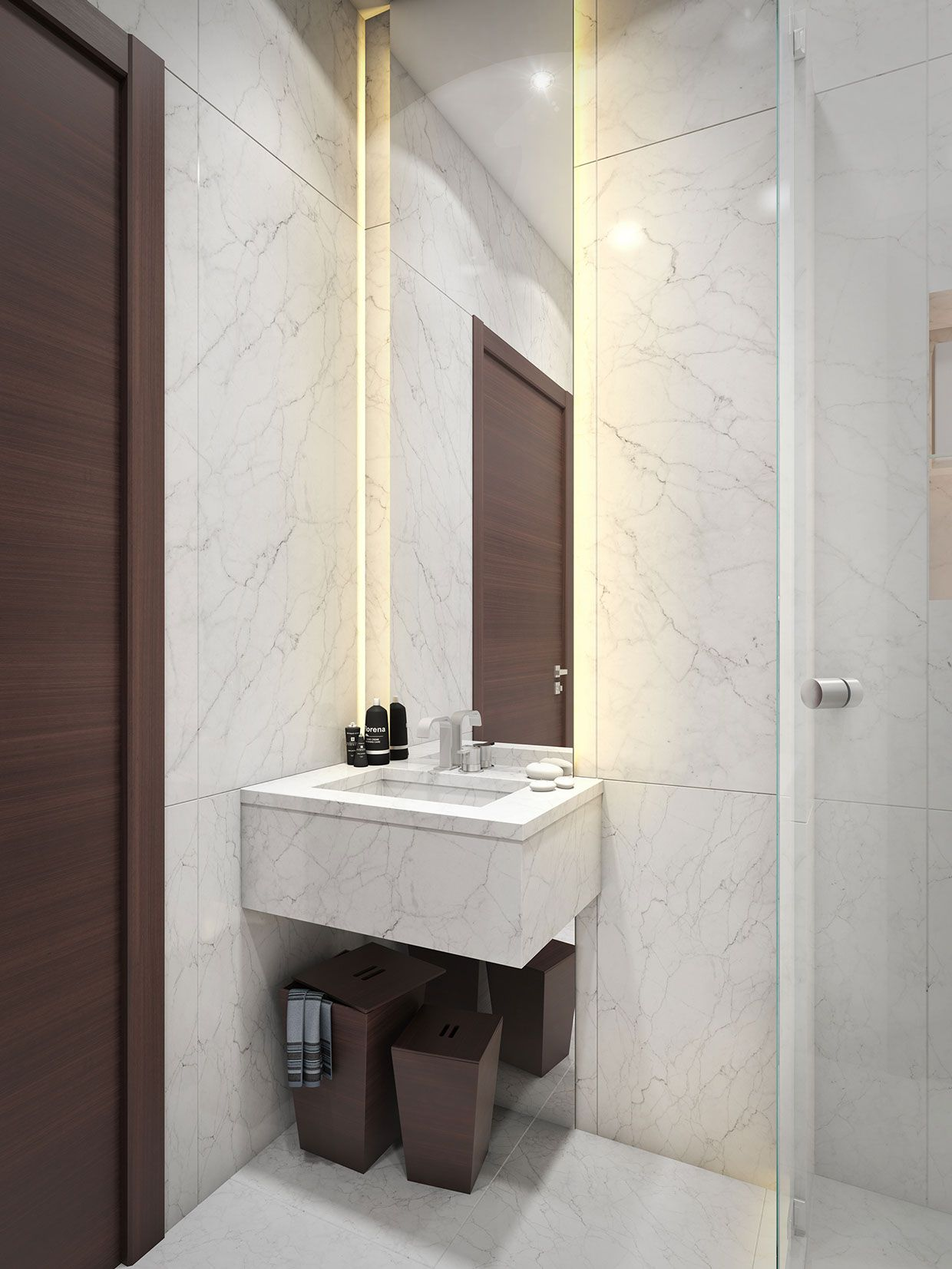 A Super Small 40 Square Meter Home  Small Bathroom Marbles And Captivating 40 Sq Ft Bathroom Design Design Ideas