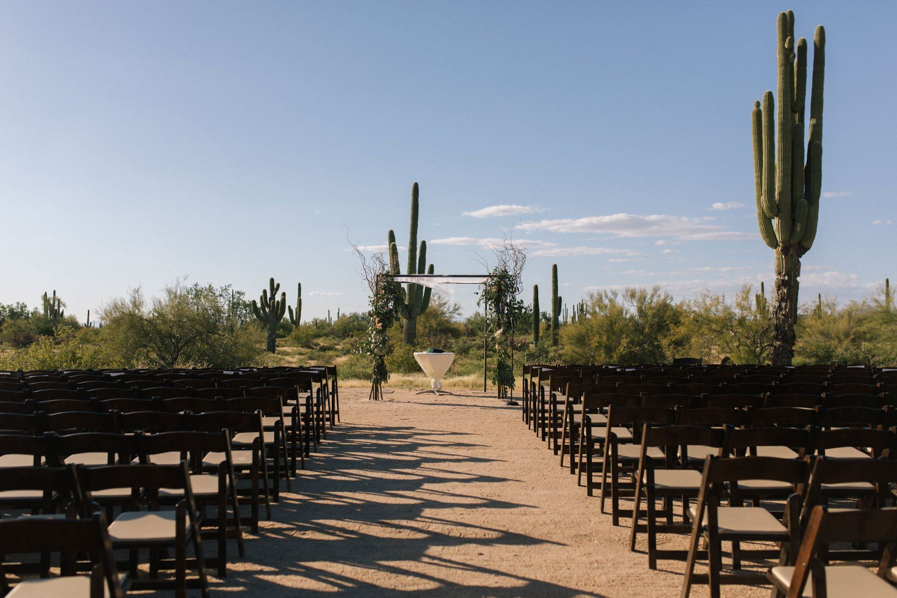 Desert Foothills barn event center ceremony in the desert ...