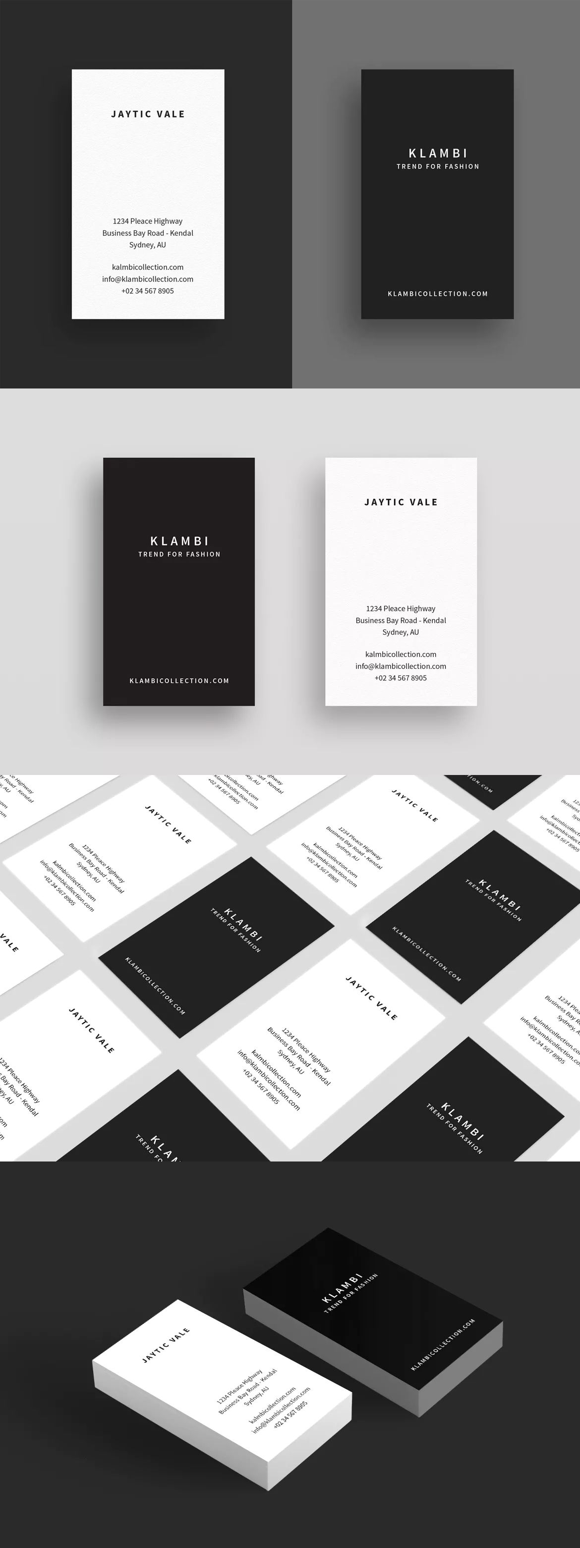 Business Card Template InDesign INDD