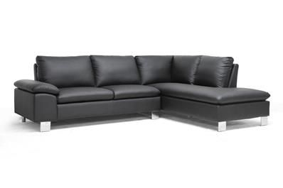 Toria Black Modern Sectional Sofa Affordable Modern Furniture In