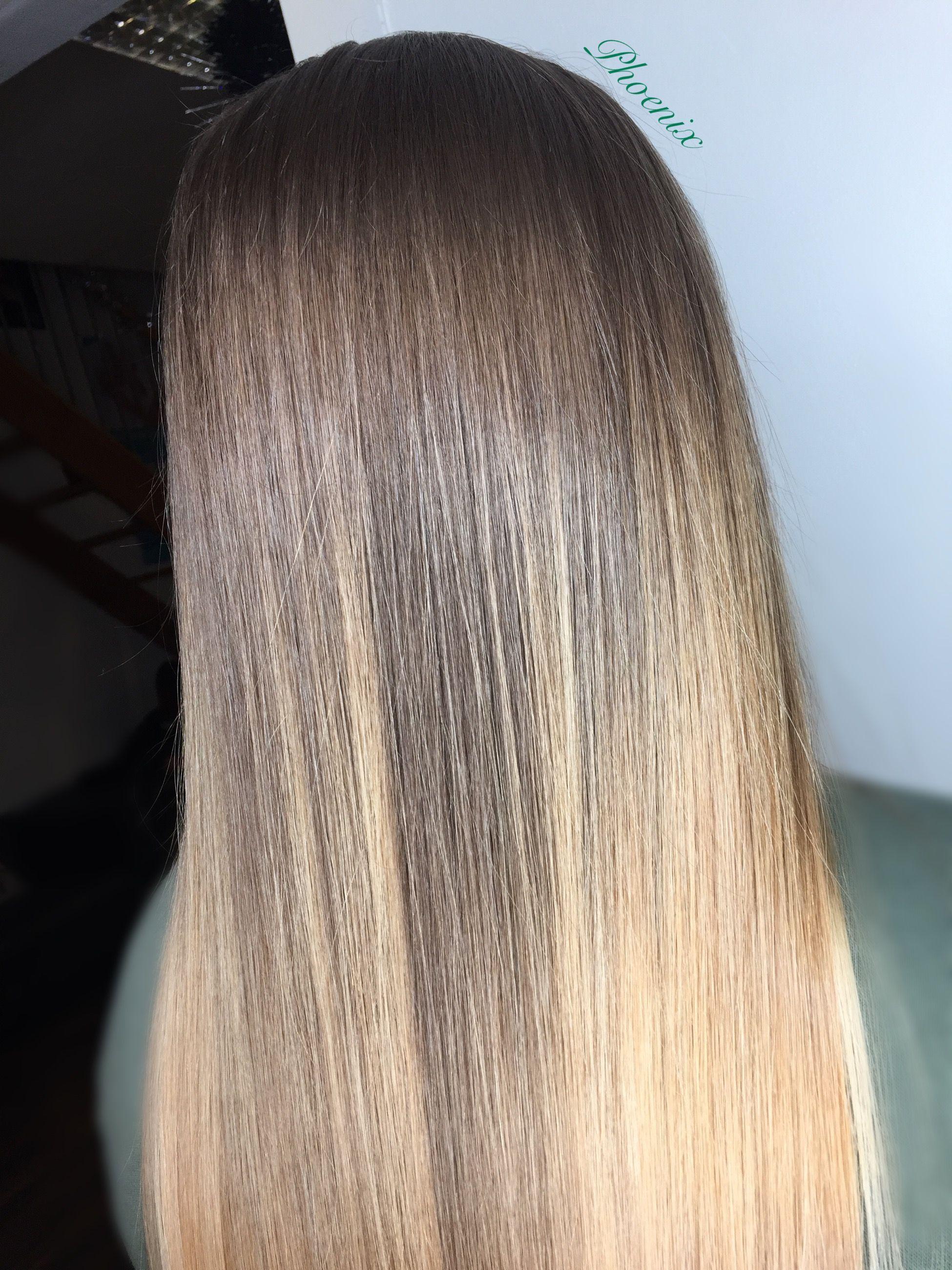 ombré Long hair Blonde hair Seamless grow out