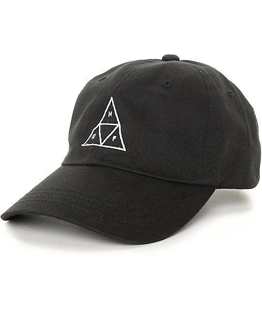 Huf Triangle Black Baseball Strapback Hat Zumiez Baseball Hats Strapback Hats Hats For Men