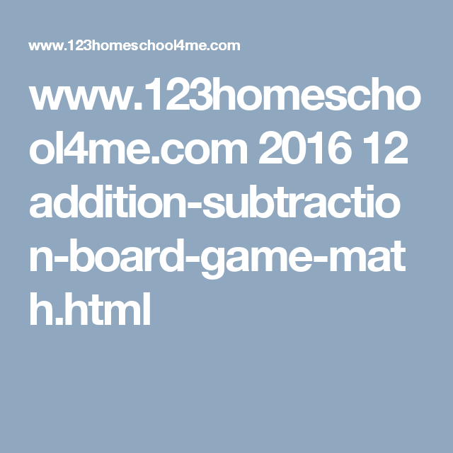 Addition & Subtraction Board Game: Math Fluency within 5 | Maths ...