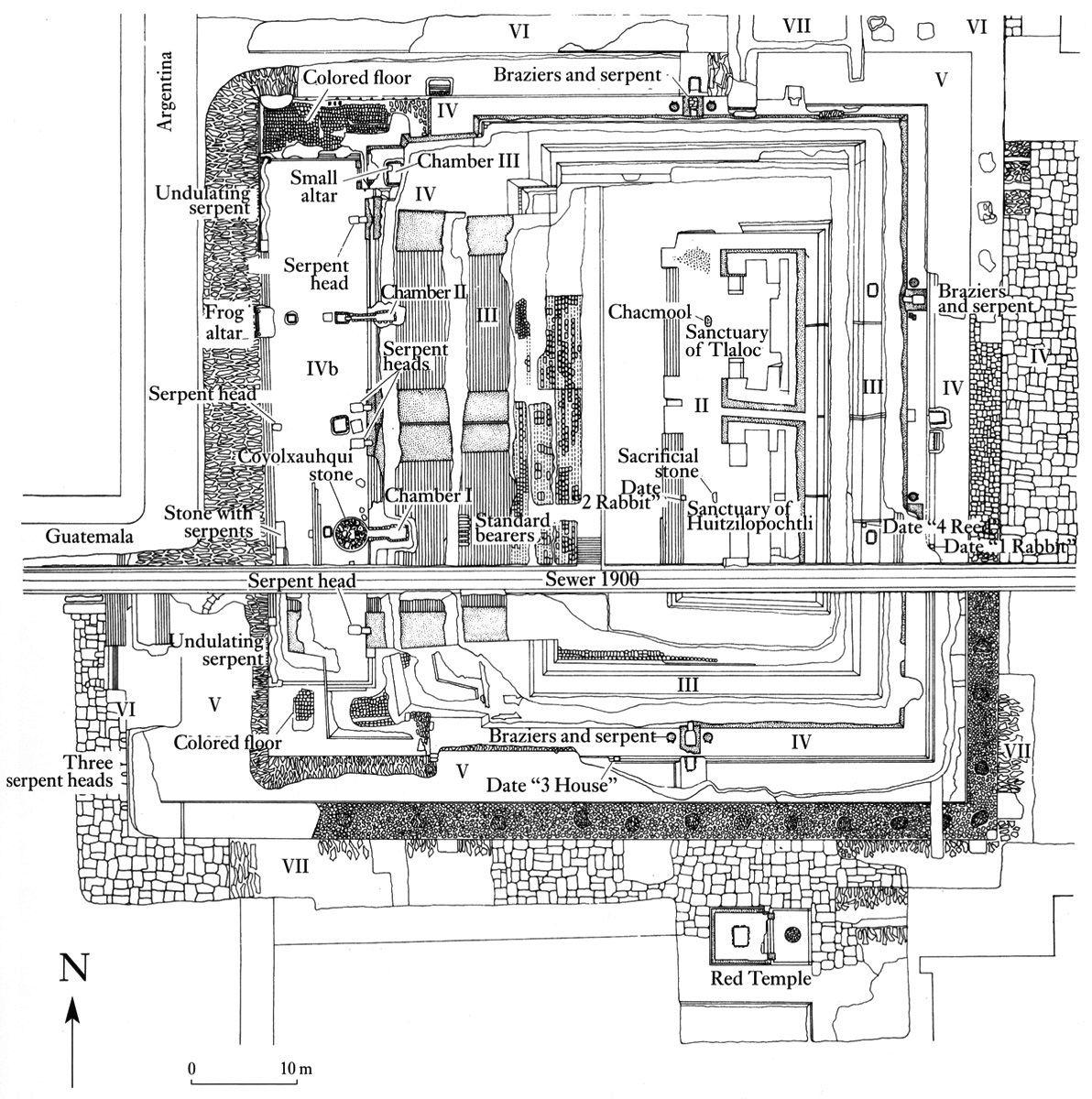 Templo Mayor, Tenochtitlan | arqueologia azteca ...
