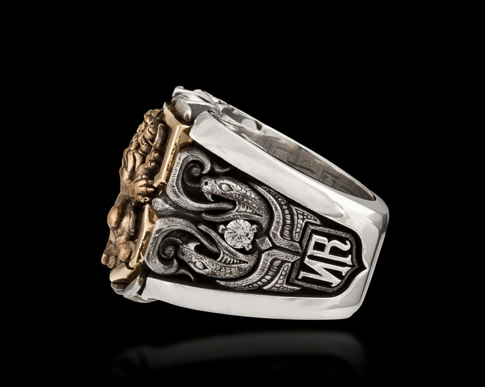 Guardian Lion Jawbone Collection Nightrider Jewelry Signet