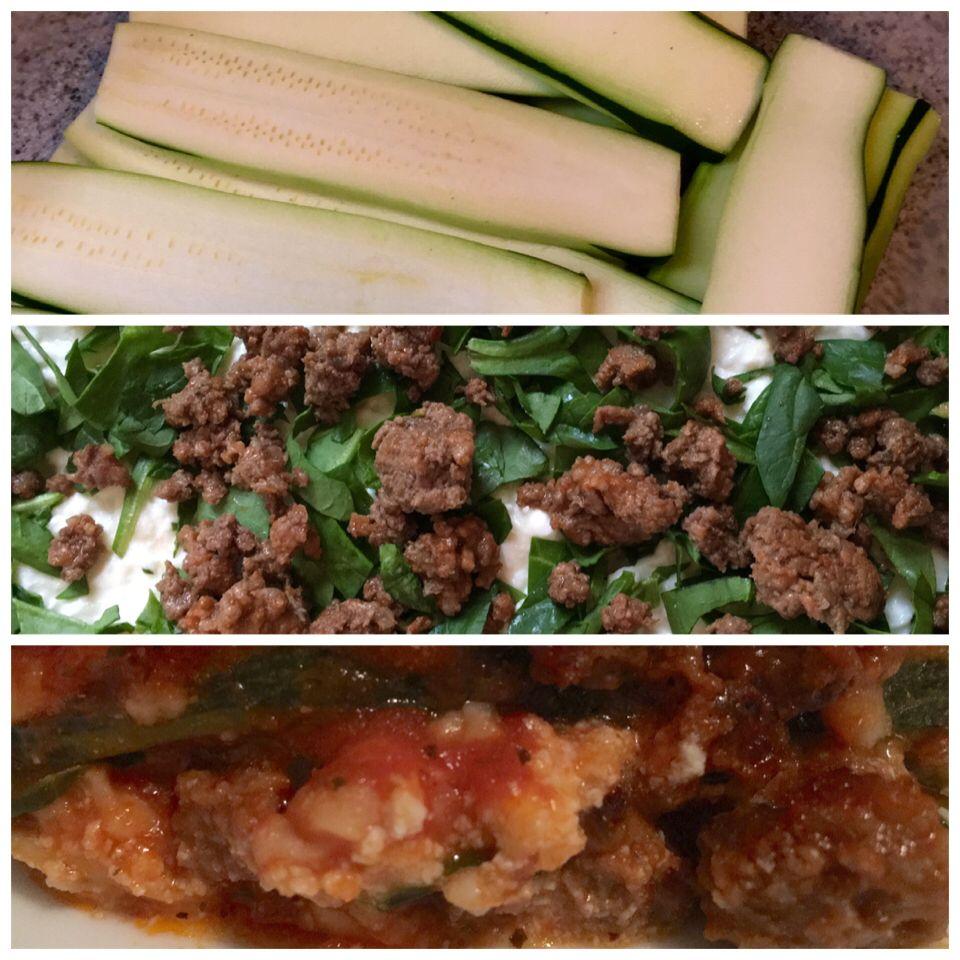 Zucchini, Sausage, Spinach Lasagne