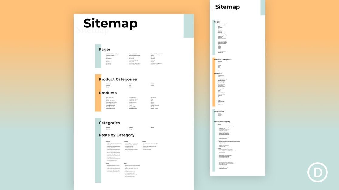 How To Create A Dynamic Html Sitemap Page In Divi In 2020 Html Sitemap Web Design Web Design Tutorials
