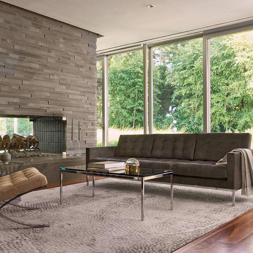 Barcelona® Chair | Brown sofa decor, Barcelona chair ...