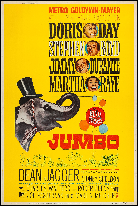 Billy Rose's Jumbo (1962) Stars: Doris Day, Jimmy Durante