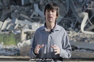 British hostage John Cantlie  has appeared in a shocking  new ISIS video .     Clearly under duress...