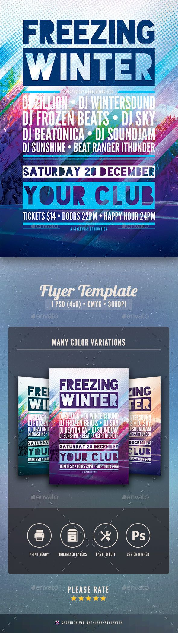Freezing Winter Flyer  Flyer Template Event Flyers And Template