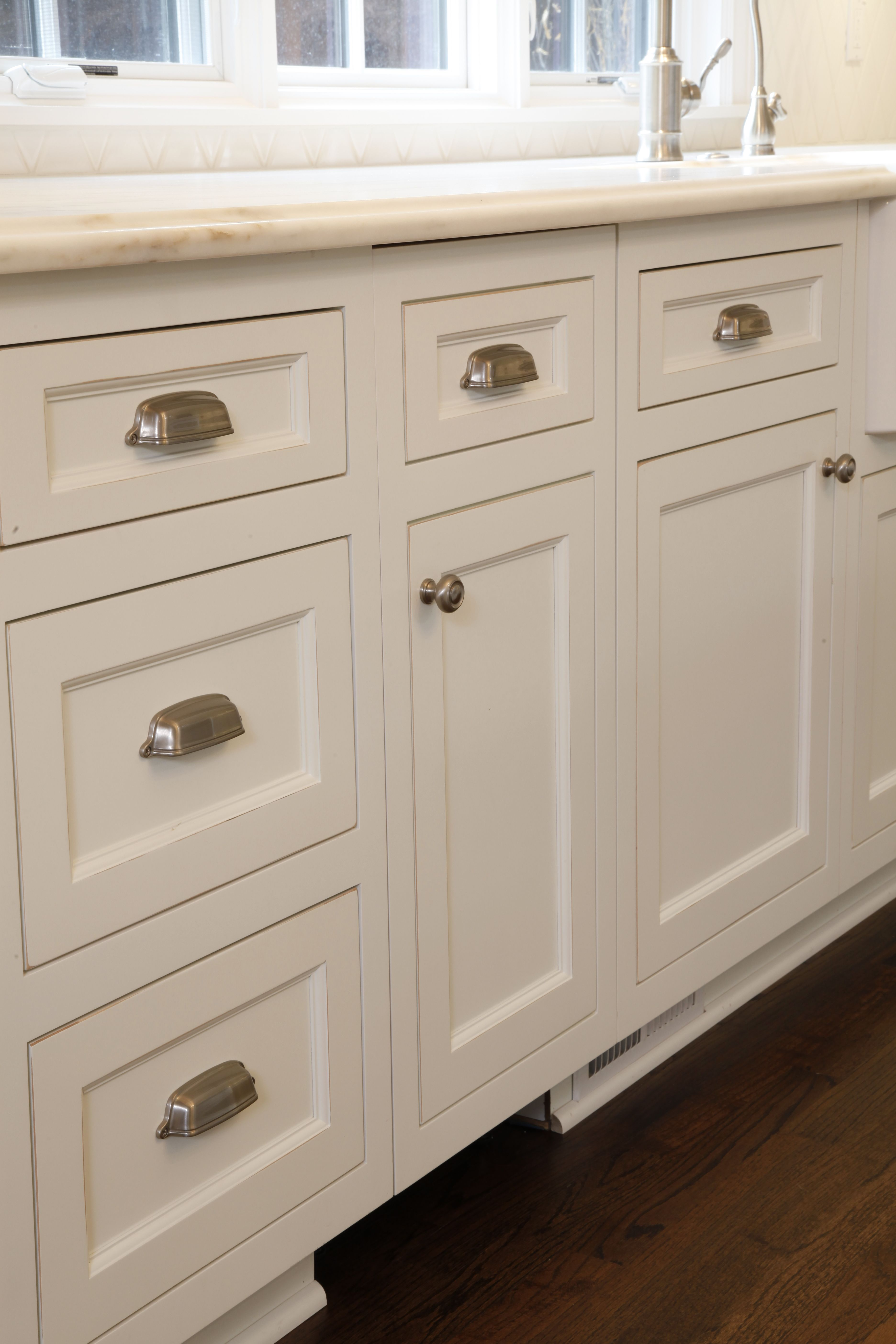 hardware for white kitchen cabinets furniture stores custom with brushed nickel