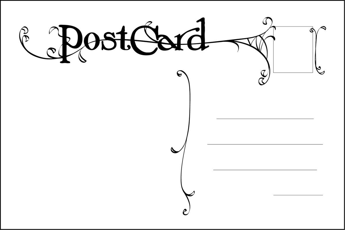 Postcard Back Design Google Search Postcard Template Free Postcard Template Free Postcards