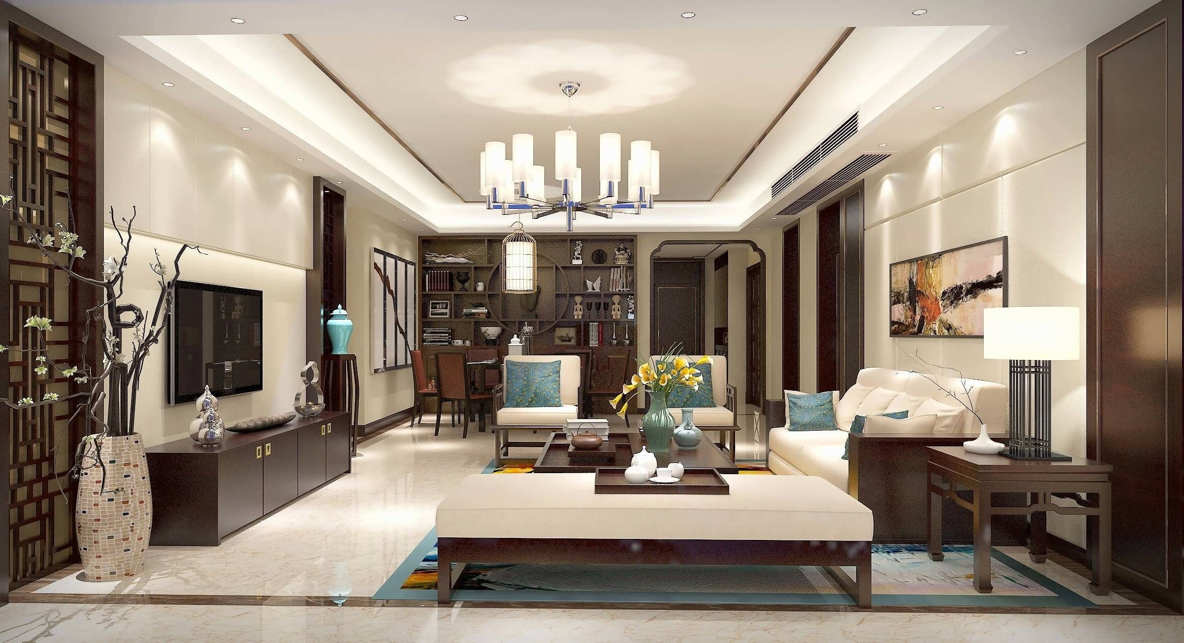 Decorating Ideas For Living Room Splashing Uniqueness Of Asian