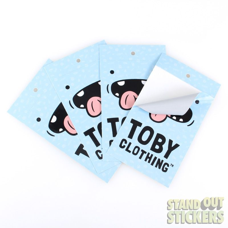 RECTANGLE CUSTOM STICKERS FOR TOBY CLOTHING