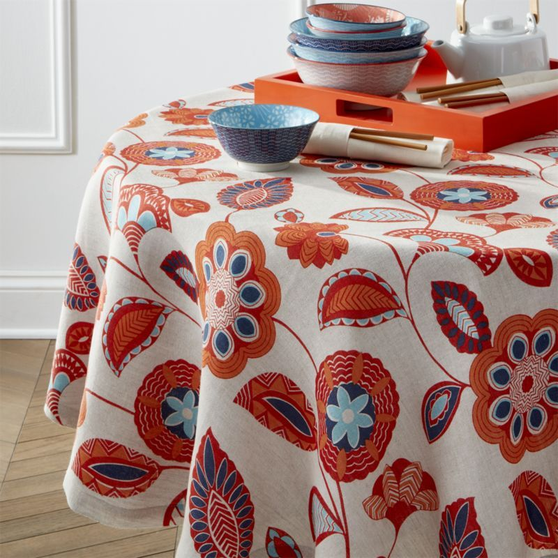 Free Shipping Shop Anju 60 Round Tablecloth Cloak Your Springtime Table With Our Natural Linen Round Tableclot