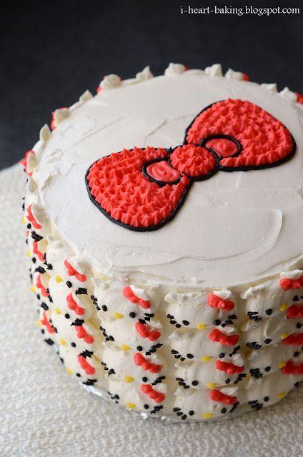 Hello Kitty Cake Pink Ombre Cake Hello Kitty Cake Buttercream Cake Designs