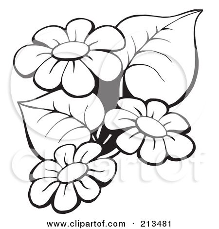 Free printable black art royalty free rf clipart illustration of royalty free rf clipart illustration of an outline of black and white flowers by visekart mightylinksfo Gallery