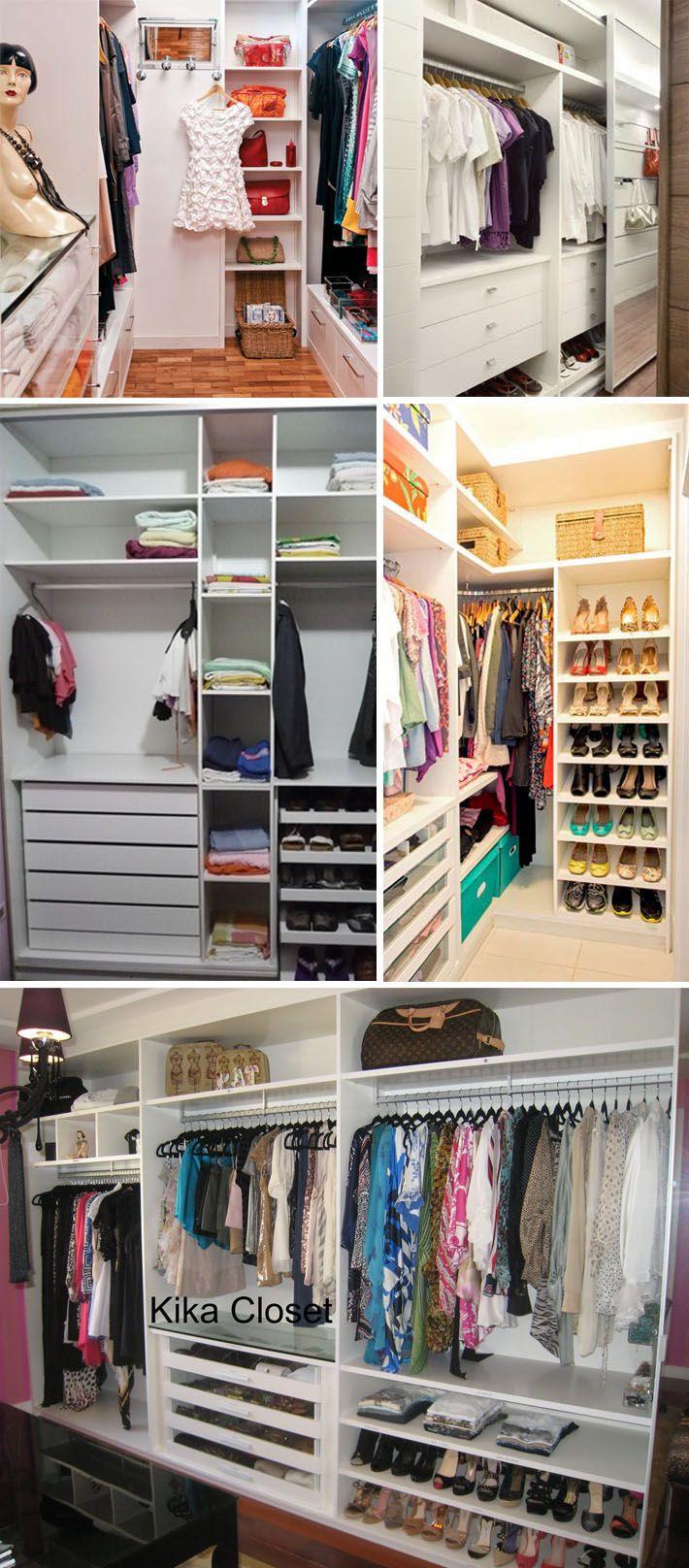 Como Planejar Um Closet Ou Arm Rio Closet Pequeno Loja De  ~ Decoração De Quarto Criativo E Closet No Quarto Pequeno