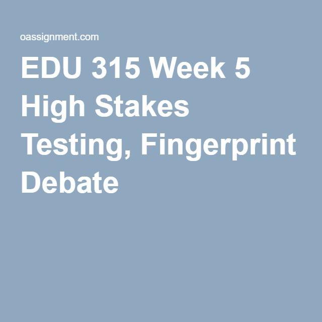 EDU 315 Week 4 Case Analysis Paper, Fingerprint T Chart EDU 315 - case analysis