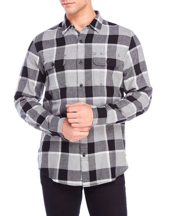"Check out ""Miter Plaid Flannel Shirt"" from Century 21"