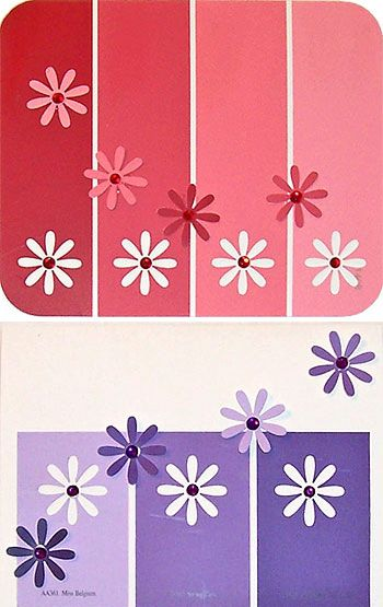HOW TO - Paint Chip Greeting Cards Pinterest Paint chips, Paint - Sample Cards
