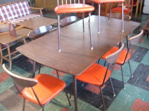 1960 u0027s atomic kitchen table and chairs  not to mention the shop u0027s floor design   1960 u0027s atomic kitchen table and chairs  not to mention the shop u0027s      rh   pinterest com
