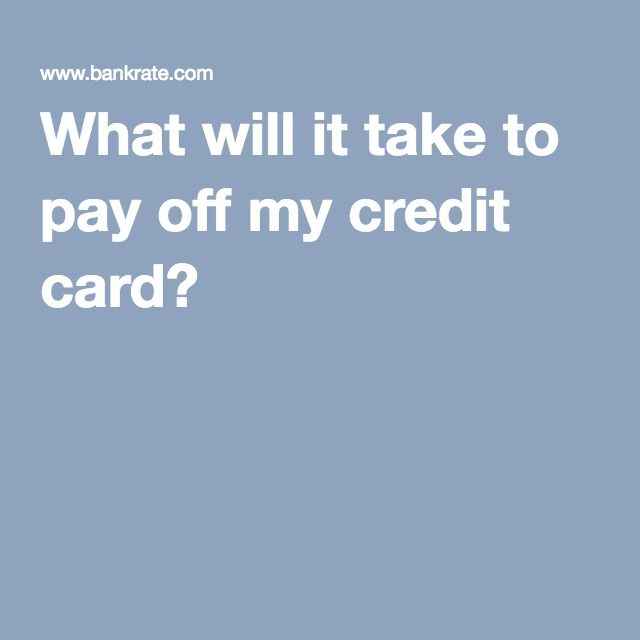 What will it take to pay off my credit card? WorksheetsIessons
