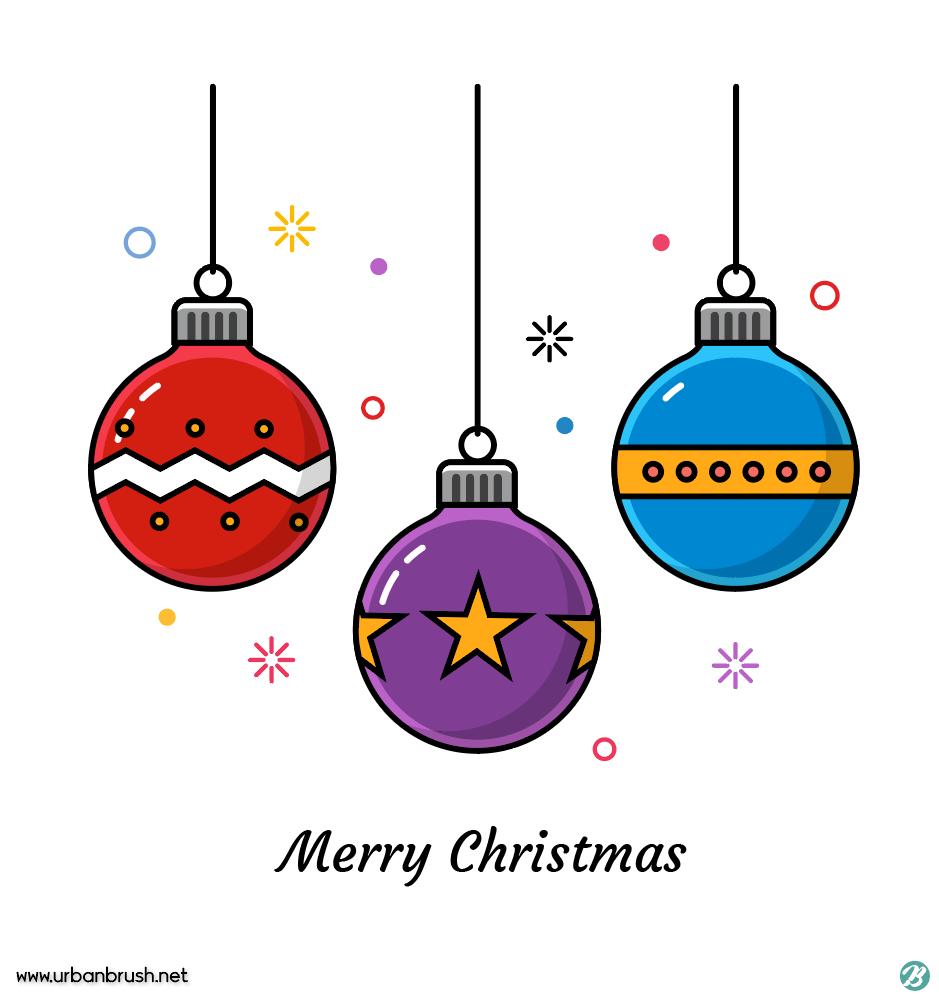 크리스마스볼 일러스트 Ai 무료다운로드 Free Christmas Ball Vector Urbanbrush 크리스마스 카드 귀여운 크리스마스 배경화면 크리스마스 예술